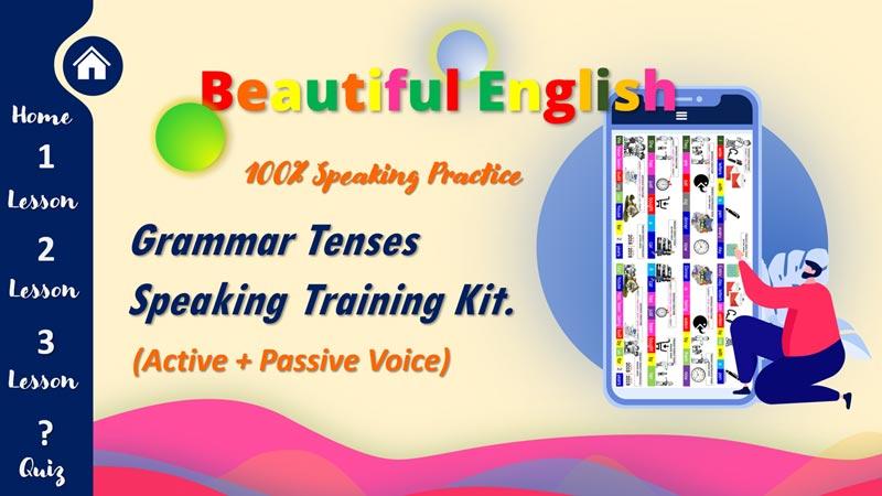 English Grammar Tenses Speaking Training Kit